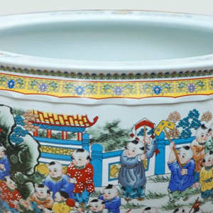 景德镇大缸酒店宾馆摆件青花陶瓷大缸陶瓷鱼缸陶瓷工艺品