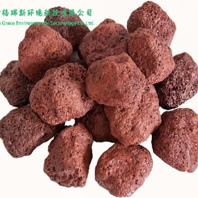 天津厂家供应火山岩生物除臭滤料填料 生物滤池滤塔填料 矿区直供 30-50mm