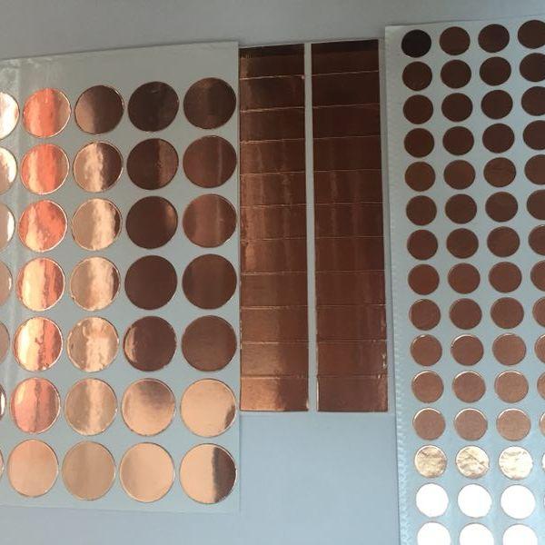 绝缘屏蔽铜箔 单导 双导铜箔胶带 背胶铜箔