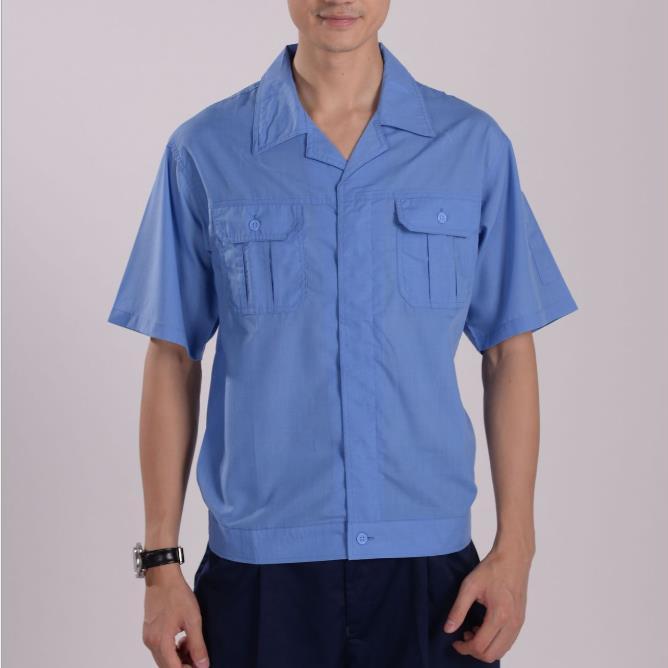 供应 2508涤棉水洗府绸 上衣工作服工装夏装