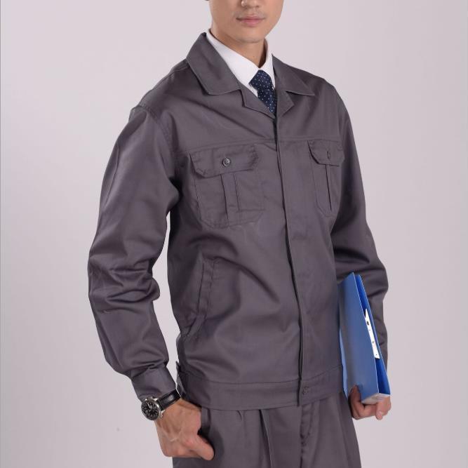 供应 X115涤棉加厚纱卡 工作服 上衣 工装