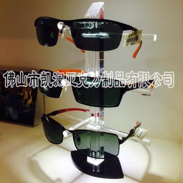 凯澜有机玻璃厂家直销眼镜底座托架 水晶亚克力眼镜展示框架