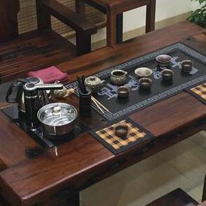 老船木茶桌椅组合批发实木家具简约泡茶台茶几