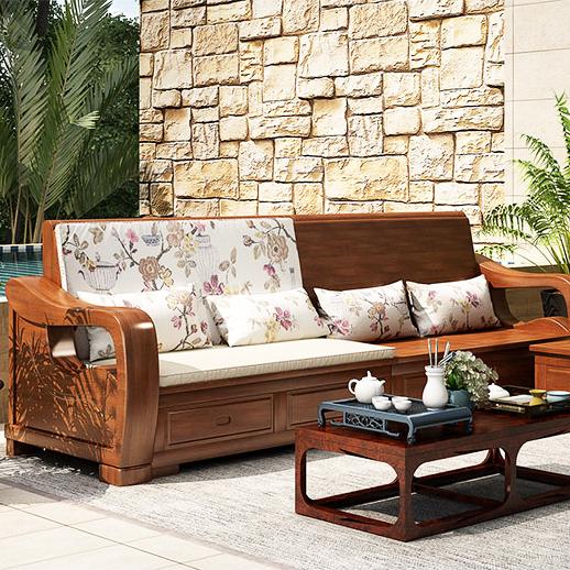 兴亚实木家具打造纯实木木床 放心使用的实木床