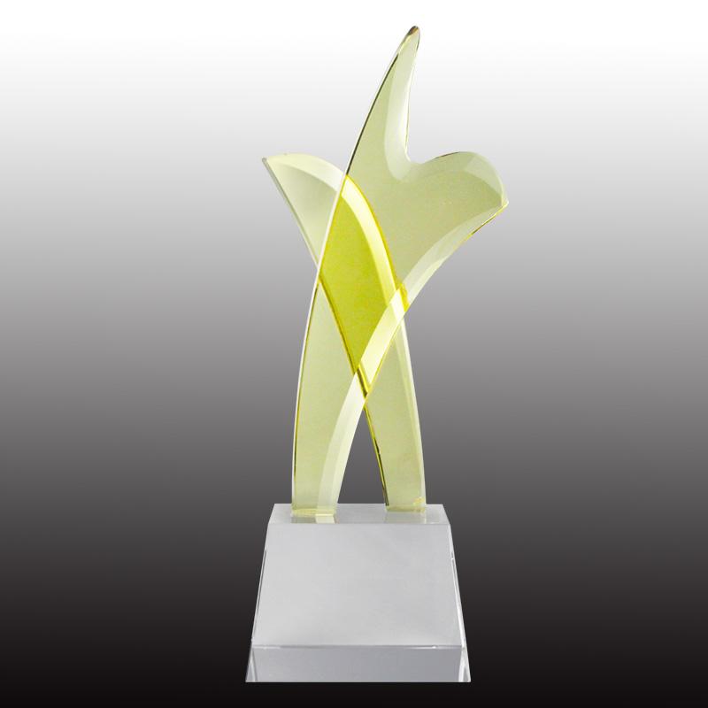 供应 水晶奖杯 水晶工艺品 可定制大小 可刻字 纪念奖杯