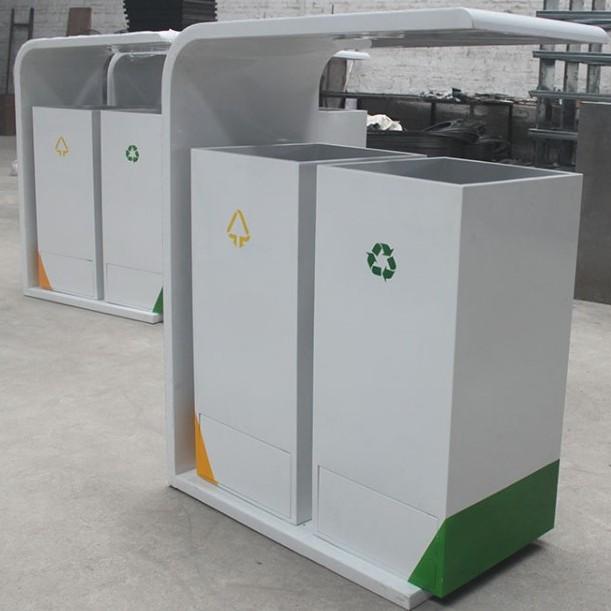 钢板环保箱 多种分类不锈钢桶 商场果皮箱户外