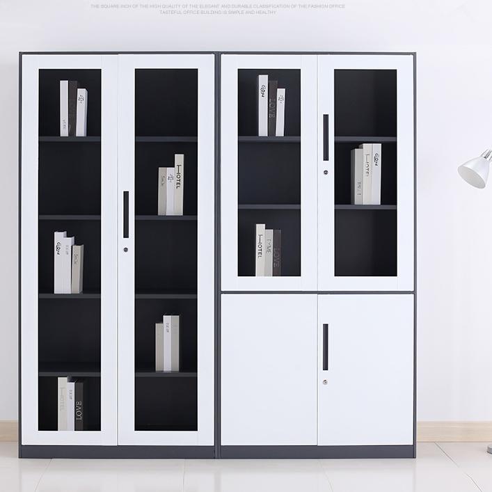 钢制文件柜 矮柜 铁皮档案柜 资料办公柜 阳台储物柜 凭证柜 带锁小柜子