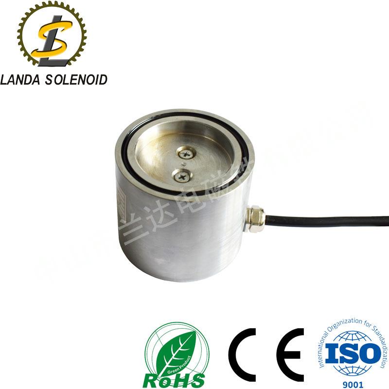 厂家定制圆形吸盘式电磁铁 直流24V电磁铁 起重电磁铁