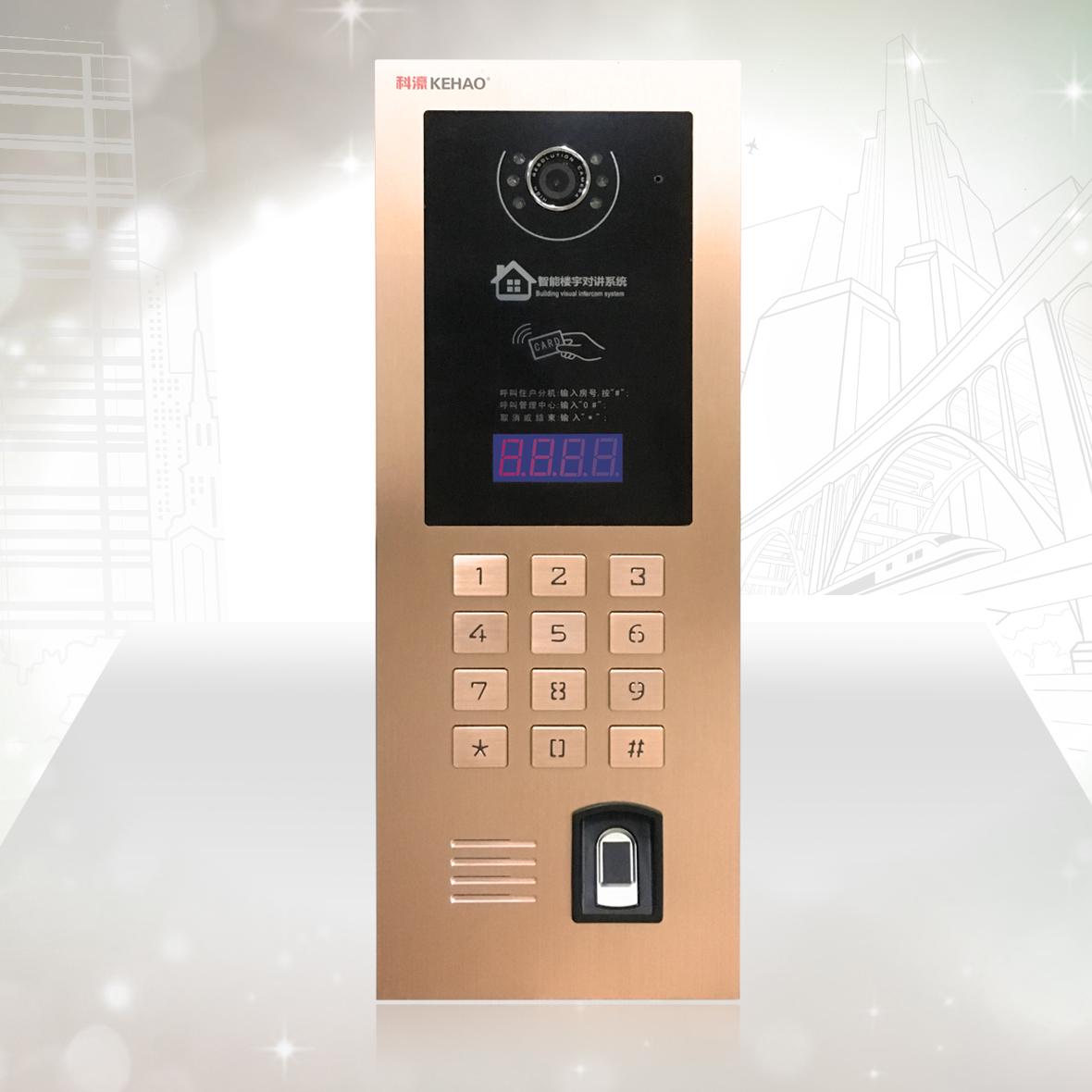 楼宇对讲十大品牌 科濠楼宇对讲系统Z22-2可视门口机
