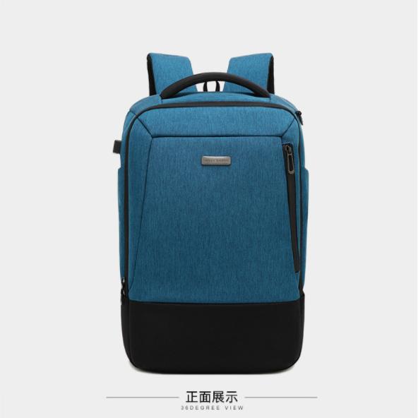 厂家批发定制牛津布商务双肩电脑背包 来图打样 可添加logo01