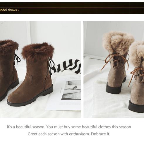 美丽啪优质保暖雪地靴免费试用