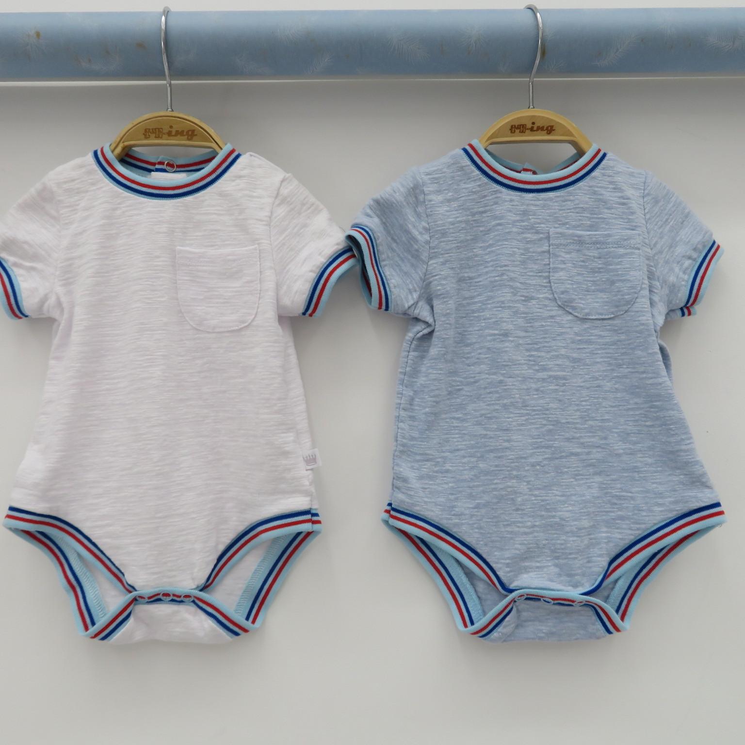 外贸原单婴儿棉弹哈衣爬衣新生儿连体服