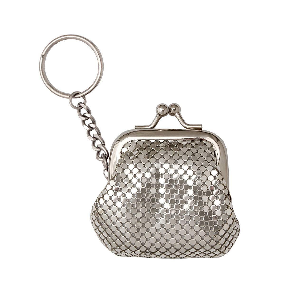 方振箱包批发定制小款铝片零钱包来图打样可添加logo