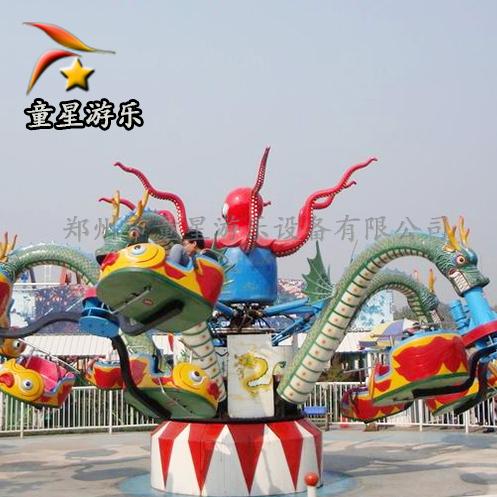 山东小型公园游乐设备价格大章鱼童星游乐风格多变