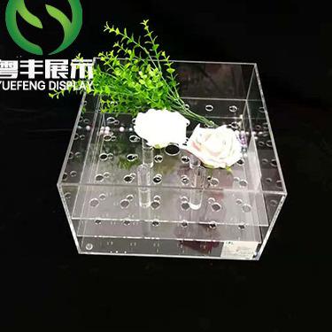 粤丰厂家定做方形带盖亚克力透明展示盒子