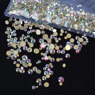 金底透明水晶玻璃钻AB彩钻