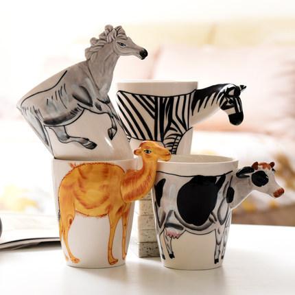 供应 简约文艺大容量水杯创意情侣咖啡杯子