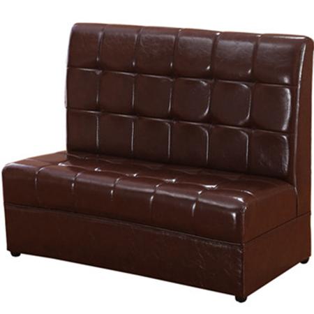 江门茶餐厅超纤皮卡座沙发定做价格 新会卡座沙发厂家