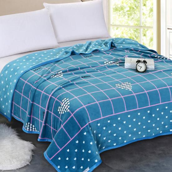供应 厂家批发 法兰绒毛毯 冬季加厚珊瑚绒法莱绒毯子空调毯