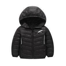 供應 2018兒童輕薄款棉服 小中大童連帽純色防寒外套