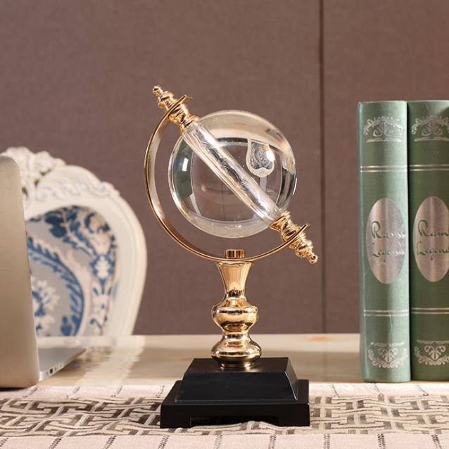 供应 水晶球摆件 欧式创意客厅工艺品摆件 水晶玻璃工艺品