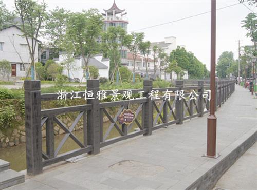 浙江恒雅景观工程有限公司、丽水仿木护栏、水泥仿木护栏