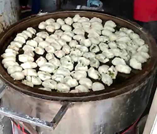 水煎包锅_永城金宝机械厂家(图)_旋转水煎包锅
