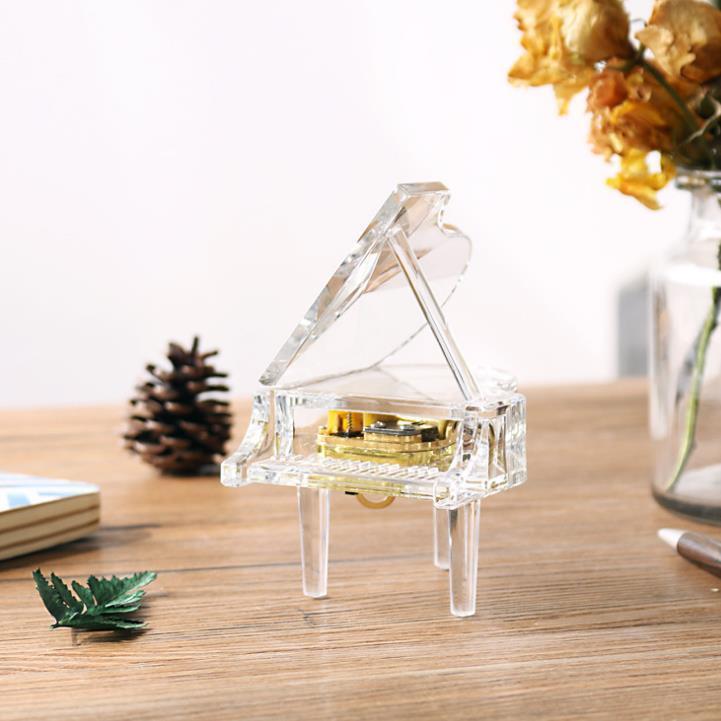 供应 水晶立体小钢琴 复古音乐盒