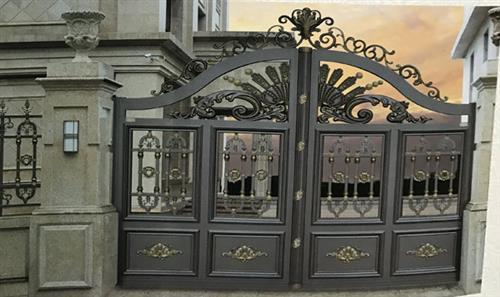 江盾门业优质货源(图)、铸铝门厂家、海南铸铝门