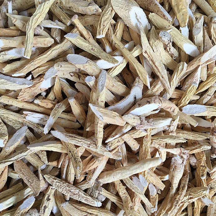 广西那坡县牛大力 薯野生粉质 牛大力干片