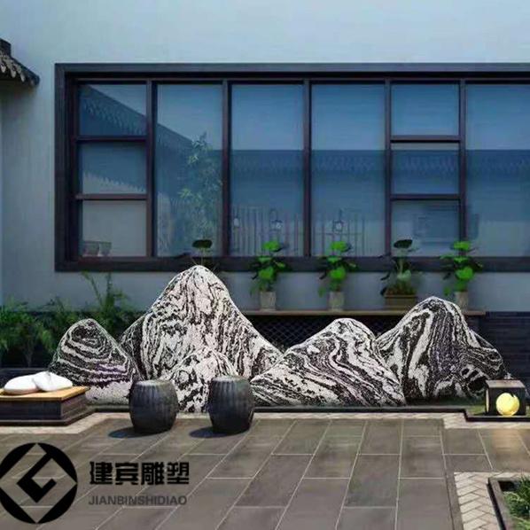 广东造景假山石片景观石片庭院枯山水泰山石切片