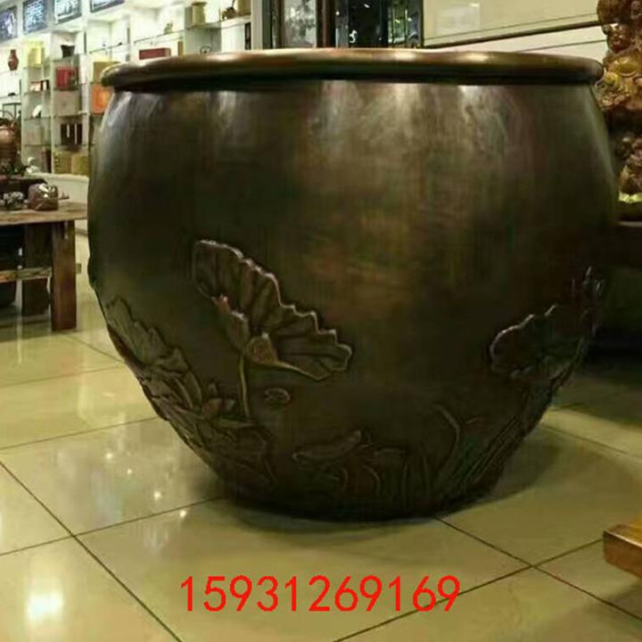 大型故宫缸 大铜缸聚宝盆纯铜大水缸 铸铜缸厂家园林摆件