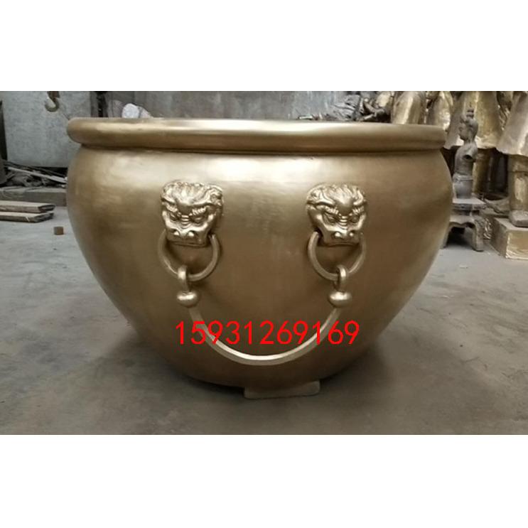 厂家定做仿古铜缸 铸铜雕塑摆件 景泰蓝鱼缸家居摆件